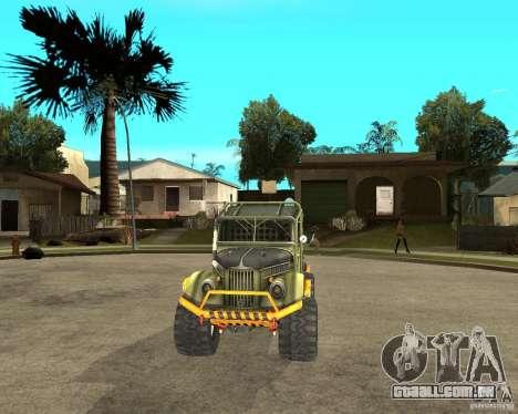 GAZ 69 julgamento para GTA San Andreas vista traseira