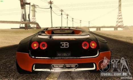 Bugatti Veyron SuperSport para vista lateral GTA San Andreas