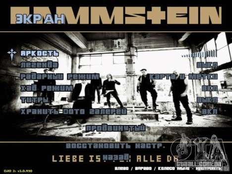 Menu de Rammstein para GTA San Andreas terceira tela