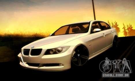 BMW 330 E90 para GTA San Andreas vista traseira