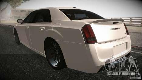 Chrysler 300 SRT8 2012 para GTA San Andreas traseira esquerda vista