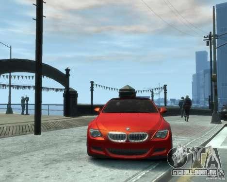 BMW M6 2010 v1.1 para GTA 4 vista de volta