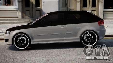 Audi S3 para GTA 4 traseira esquerda vista
