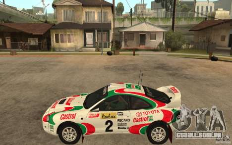 Toyota Celica GT4 DiRT para GTA San Andreas esquerda vista