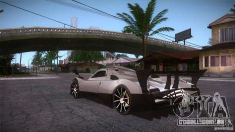 Pagani Zonda R para GTA San Andreas traseira esquerda vista
