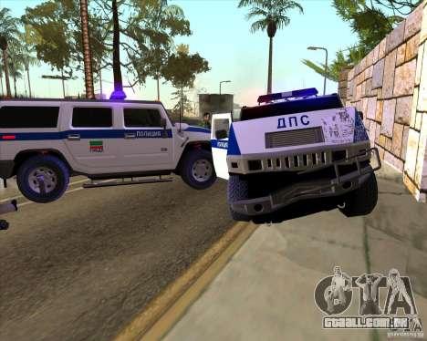 Hummer H2 DPS para GTA San Andreas vista superior
