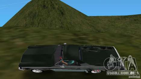 Chevrolet El Camino Idaho para GTA Vice City vista traseira
