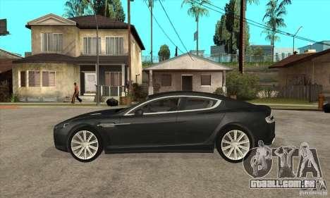 Aston Martin Rapide 2010 para GTA San Andreas esquerda vista