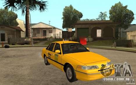 Ford Crown Victoria Taxi 1992 para GTA San Andreas vista traseira
