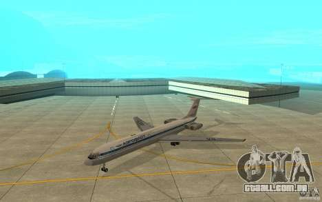 Aeroflot Il-62 m para GTA San Andreas esquerda vista