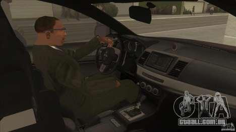 Proton Inspira v1 para GTA San Andreas vista interior