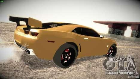 Chevrolet Camaro SS Transformers 3 para GTA San Andreas vista direita