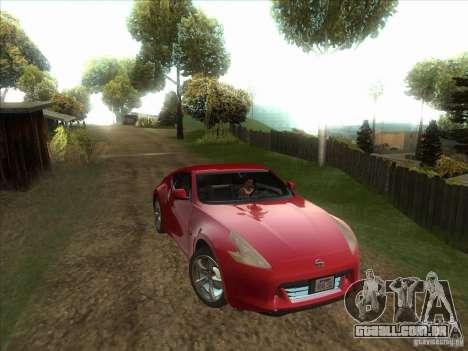 Nissan 370Z v2.0 para GTA San Andreas vista traseira