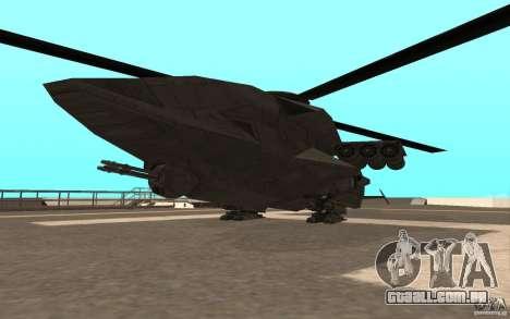 MQ Drone from BO2 para GTA San Andreas vista direita