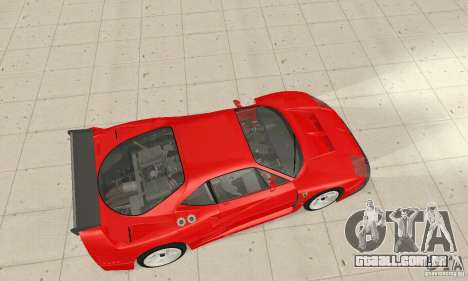 Ferrari F40 Competizione para GTA San Andreas traseira esquerda vista