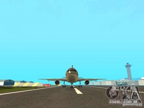 McDonell Douglas DC 10 Nortwest Airlines para GTA San Andreas esquerda vista