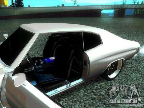 Chevrolet Chevelle SS Domenic from FnF 4 para GTA San Andreas traseira esquerda vista