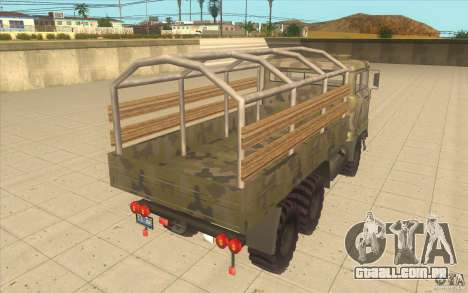 IFA 6x6 Army Truck para GTA San Andreas traseira esquerda vista