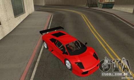 Lamborghini Murcielago R GT para GTA San Andreas vista interior