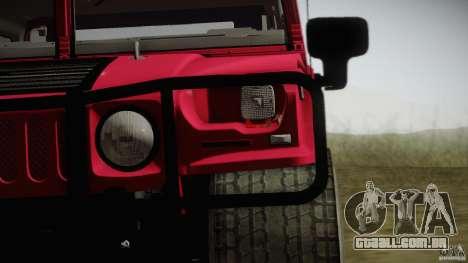 Hummer H1 Alpha Off Road Edition para GTA San Andreas traseira esquerda vista
