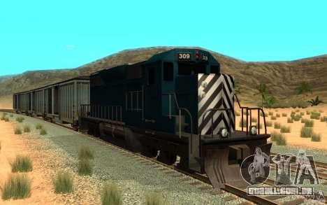 San Andreas Beta Train Mod para GTA San Andreas esquerda vista