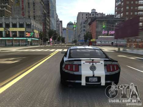 Ford Shelby GT500 2010 WIP para GTA 4 vista superior