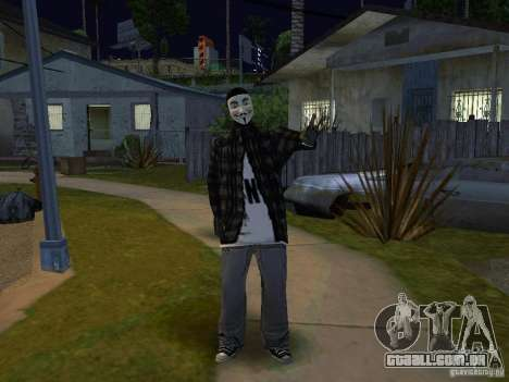 O novo Anonymus Grove para GTA San Andreas segunda tela