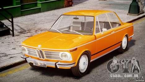 BMW 2002 1972 para GTA 4 esquerda vista