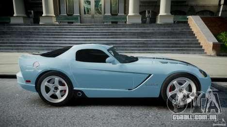 Dodge Viper SRT-10 para GTA 4 vista interior