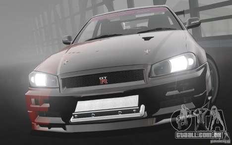 Nissan Skyline R34 Evil Empire para GTA 4 esquerda vista