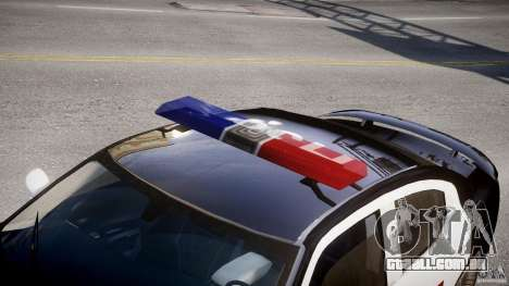 Dodge Charger SRT8 Police Cruiser para GTA 4 vista lateral