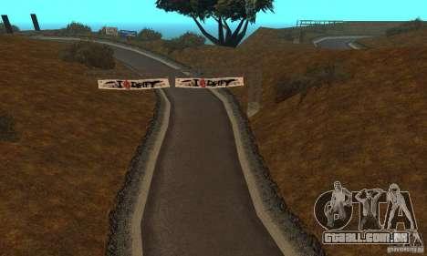 A rota do NFS Prostreet para GTA San Andreas segunda tela