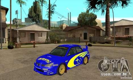 Subaru Impreza STi WRC wht1 para GTA San Andreas esquerda vista