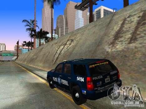 Chevrolet Tahoe 2008 Police Federal para GTA San Andreas traseira esquerda vista