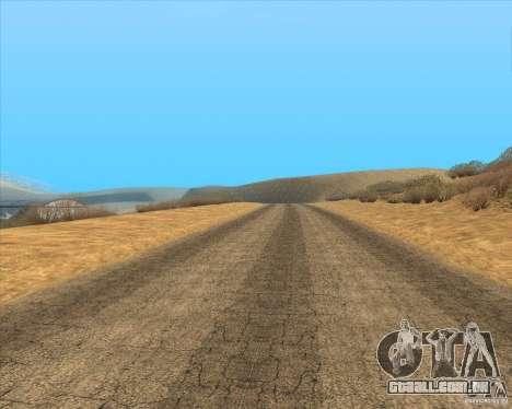 Desert HQ para GTA San Andreas nono tela