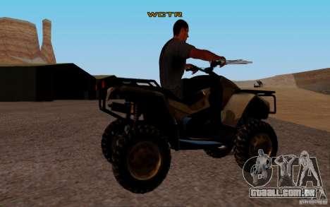 Quadbike from BF 3 para GTA San Andreas traseira esquerda vista