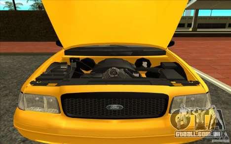 Ford Crown Victoria Taxi 2003 para GTA San Andreas traseira esquerda vista