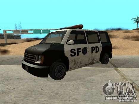 Moonbeam Police para GTA San Andreas traseira esquerda vista