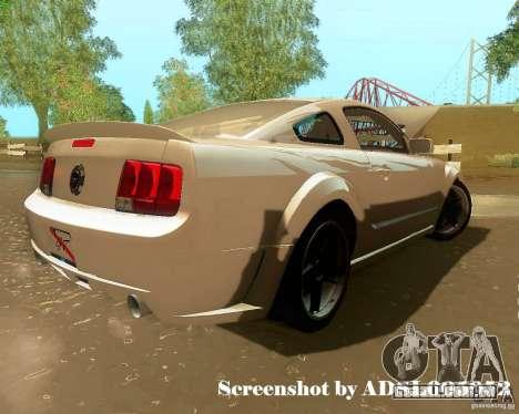 Ford Mustang GT 2005 Tunable para GTA San Andreas interior