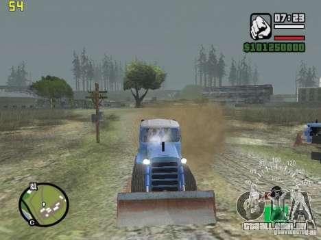 Escavadora do Cazaquistão DT-75 para GTA San Andreas vista traseira