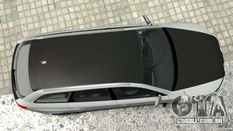 Audi RS6 Avant 2010 Carbon Edition para GTA 4 vista inferior