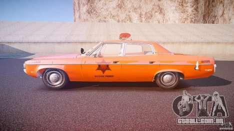 AMC Matador Hazzard County Sheriff [ELS] para GTA 4 esquerda vista