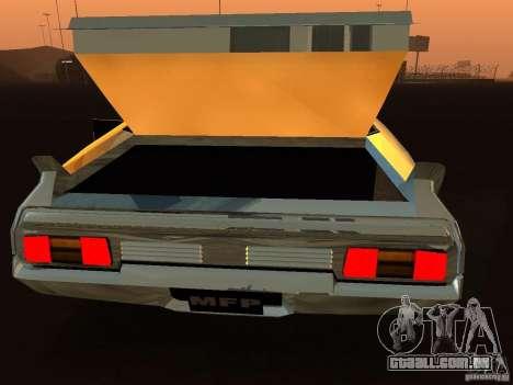 Ford Falcon XB Coupe Interceptor para GTA San Andreas vista traseira
