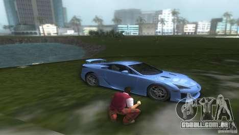 Lexus LFA para GTA Vice City vista direita