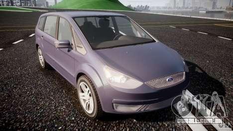 Ford Galaxy S-Max para GTA 4 vista de volta