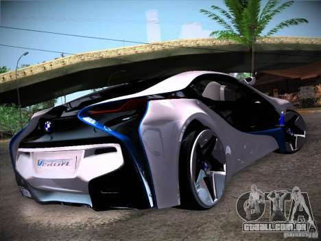 BMW Vision Efficient Dynamics I8 para GTA San Andreas traseira esquerda vista