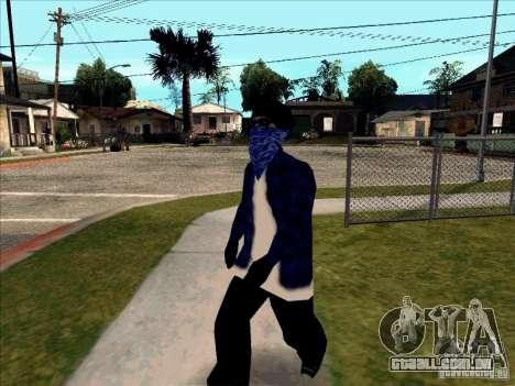 Crips Gang para GTA San Andreas por diante tela