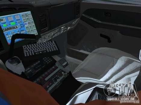 Chevrolet Suburban Los Angeles Police para GTA San Andreas vista traseira