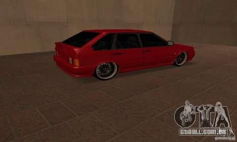 Estilo de Dag 2114 Ваз para GTA San Andreas traseira esquerda vista