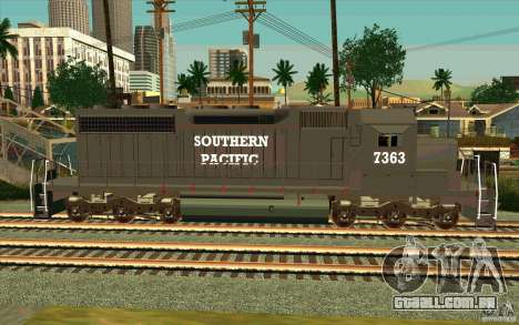 Southern Pacific SD 40 para GTA San Andreas esquerda vista